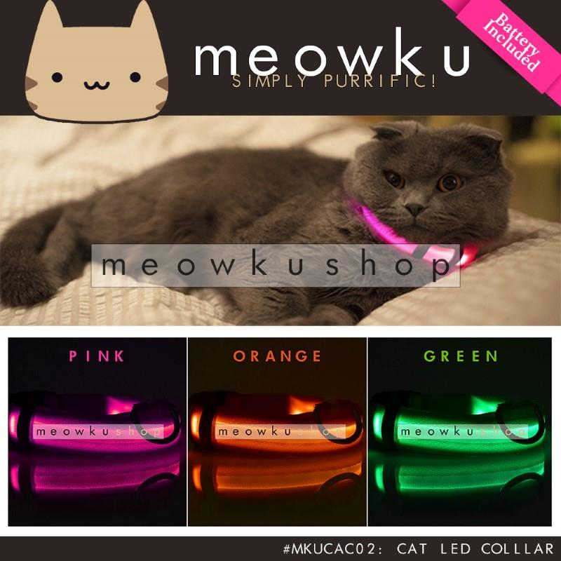 High Quality Cat LED Collar (Adjustable Light Safety Pet Dog Kucing)
