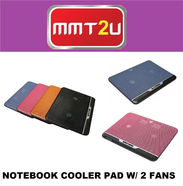 HIGH QUALITY COLORFUL SLIM NOTEBOOK COOLER PAD W/ 2 FANS (NB-C021A)