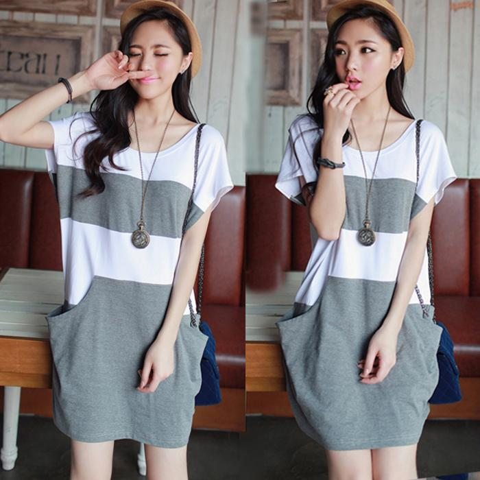 High Quality Comfortable Grey Casual Dress Maternity Plus Size