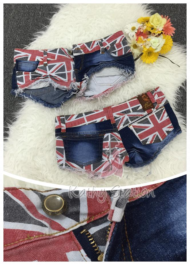 High Quality England Flag Short Jeans Pant [10143]