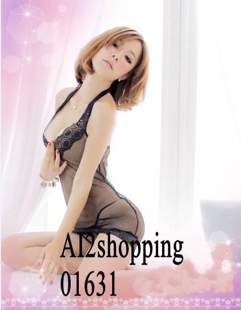 High-quality mesh lace halter fun sexy Lingerie+G-string01631