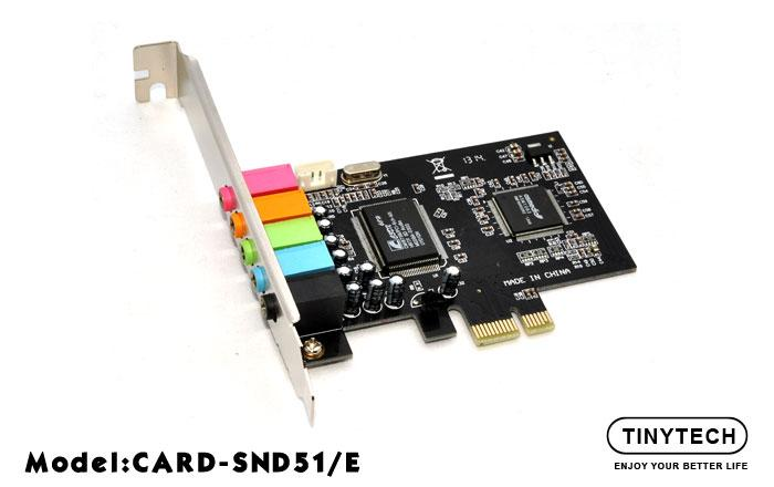 HIGH QUALITY PCI EXPRESS 6CHANNEL 5.1 3D STEREO SOUND CARD (SND51/E)