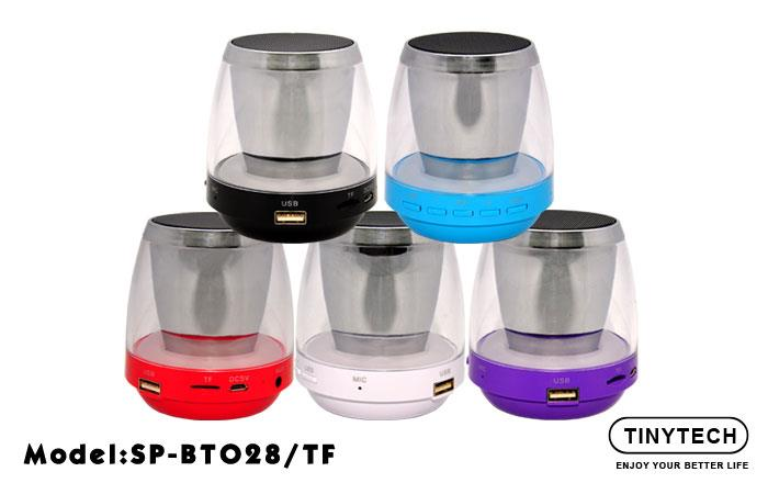 HIGH QUALITY PORTABLE LED LIGHTS MINI BLUETOOTH SPEAKER (BT028/TF)