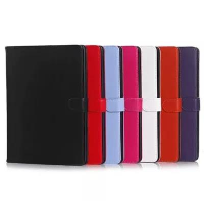 High quality Pure color Stand Flip Cover  for ipad air2/ipad6 Leather