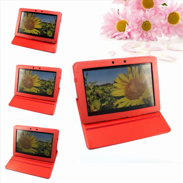 High Quality Rotatable Red PU Leather Case for Asus Transformer Prime ..