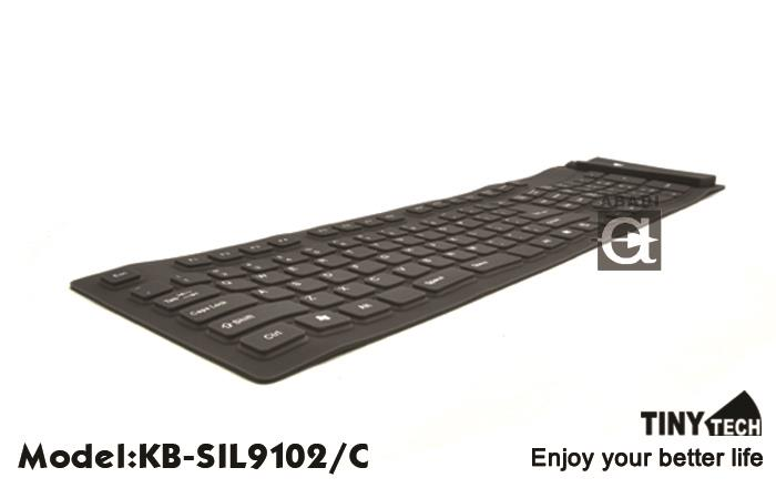 HIGH QUALITY SILICON FLEXIBLE KEYBOARD W/ NUMERIC PART (KB-SIL9102/C)