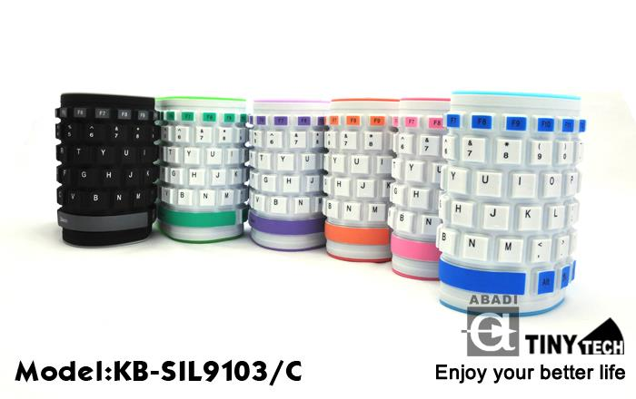 HIGH QUALITY SILICON FLEXIBLE KEYBOARD W/ NUMERIC PART (KB-SIL9103/C)