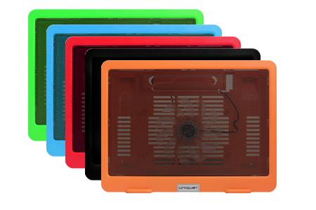 HIGH QUALITY SLIM COLOURFUL NOTEBOOK COOLER PAD WITH 1 FAN (VZ-NC4028)