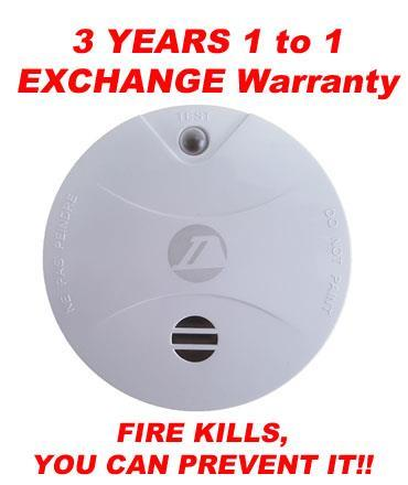 HIGH QUALITY SMOKE DETECTOR 3 Years 1 to 1 Exchange Warranty SAFETY
