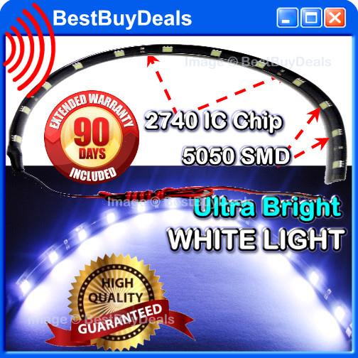 High Quality Ultra Bright White 3 Chip SMD 30cm SMD 12 LED Flexible