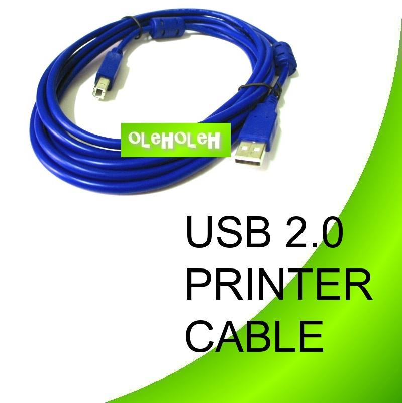 High Quality USB 2.0 Printer Cable A to B 3M CW Magnetic