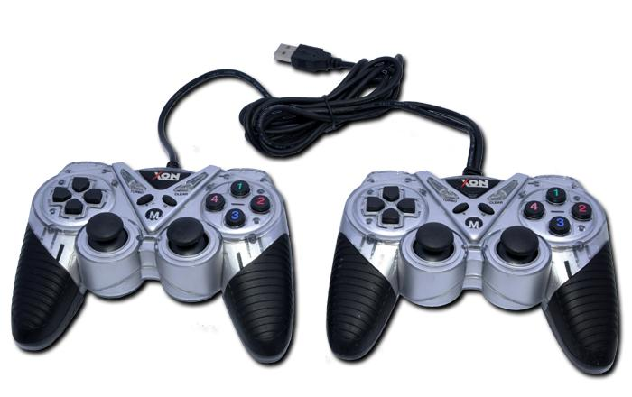 HIGH QUALITY USB2.0 DOUBLE GAMEPAD W/ DOUBLE SHOCK VIBRATE (XON003D)