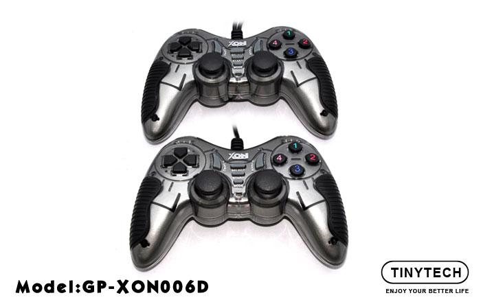 HIGH QUALITY USB2.0 DOUBLE GAMEPAD W/ DOUBLE SHOCK VIBRATE (XON006D)