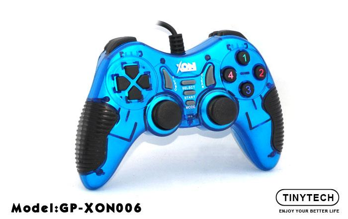 HIGH QUALITY USB2.0 SINGLE GAMEPAD W/ DOUBLE SHOCK VIBRATE (XON006)