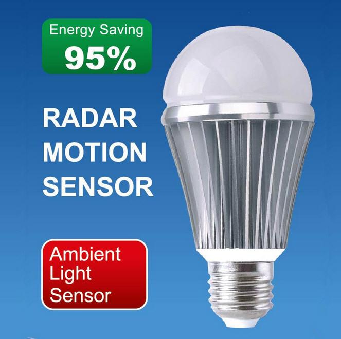 High sensitive radar motion sensor led light bulb 7w finally high sensitive radar motion sensor led light bulb 5w7w mozeypictures Gallery