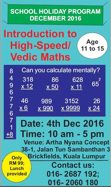 High-Speed Maths/ Vedic Maths