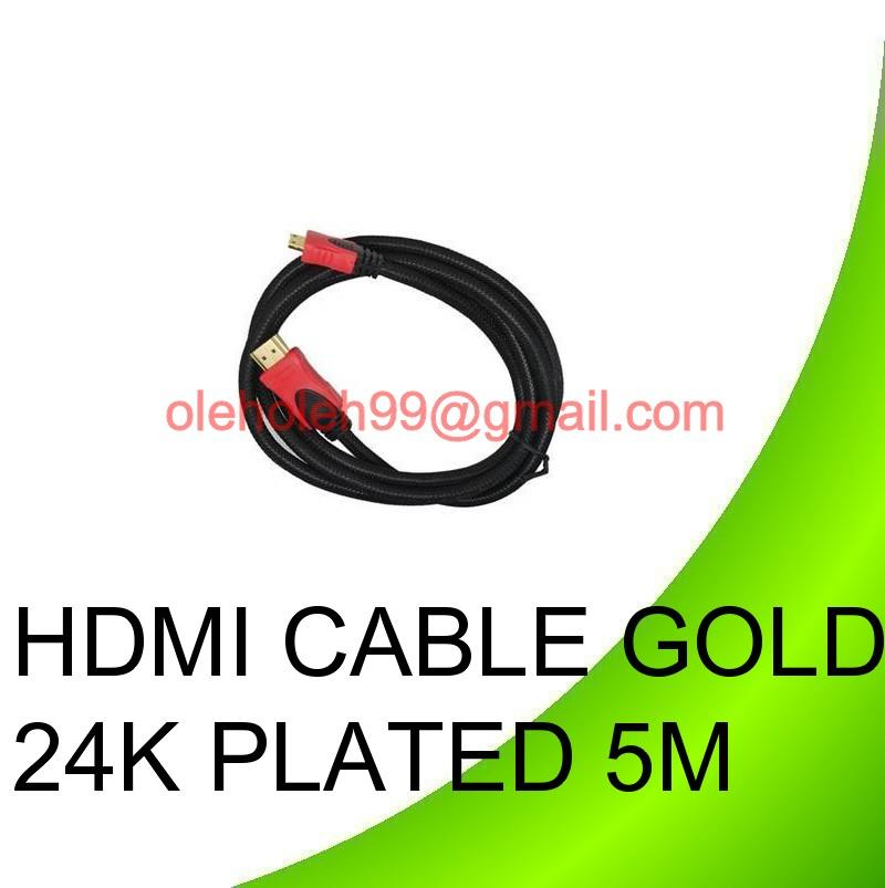 High Speed Video HDMI Cable Full HD1080p Gold 24K Plated 5M