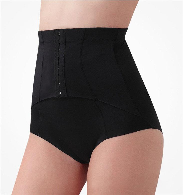 High Waist No Trace Tummy Trimmer Slimming Underwear (Black)