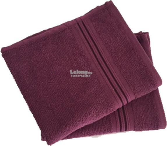 Highend brand 100% Cotton Hand towel 34x80cm ( 2pcs set )- Purple
