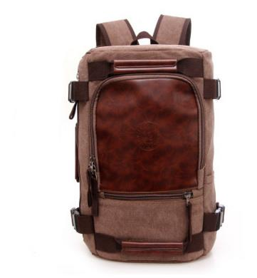 Hiking Backpack Canvas Casual Backpack Vintage Rucksack Daypack