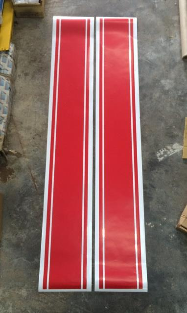 Hilux Kun25 Bonnet Roof Body Sticker Red