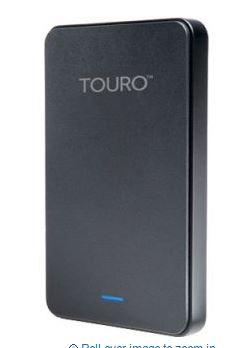 HITACHI 1TB TOURO MOBILE 2.5' USB3.0 PORTABLE HDD -BLK