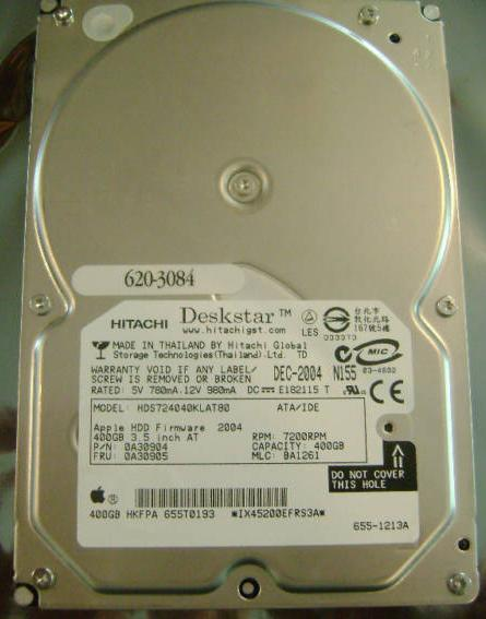 Hitachi 400Gb Sata Serial ATA 3.5' Desktop Hard Disk