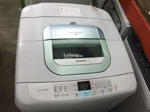 Hitachi 9.5kg Mesin Basuh Washing Machine Top Load Refurbish Automatic