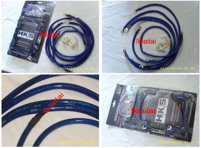 HKS Mega Thick 8GA 5-Point Grounding Cable Save Fuel + HP [Blue]