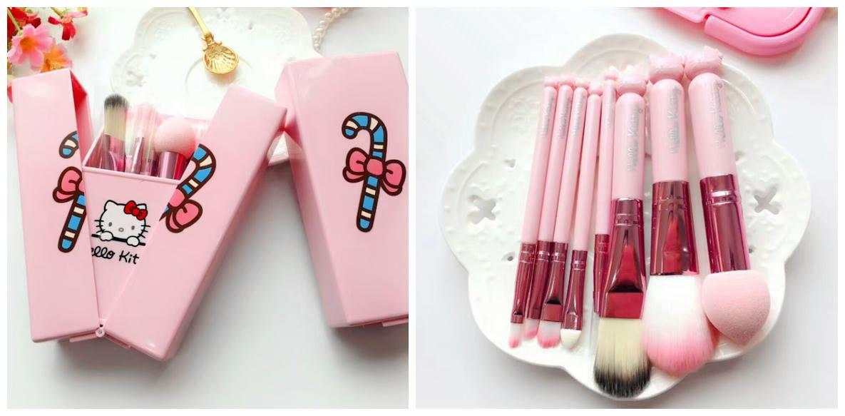 HM0833 CLASSY HELLO KITTY MAKE UP BRUSH SET