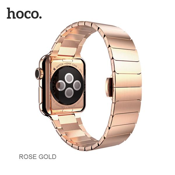 Hoco Apple Watch Original Stainless Steel Band (Free Screen Protector)