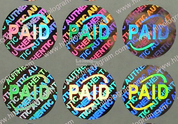 Hologram Sticker Blank or Pre-printed