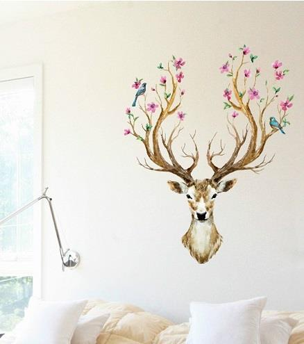 Homestay deco friendly decals unique design creative europe style deer