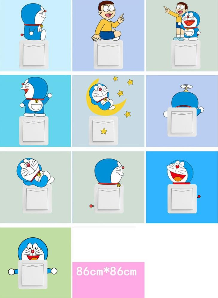 Homestay deco friendly decals unique doraemon switch sticker