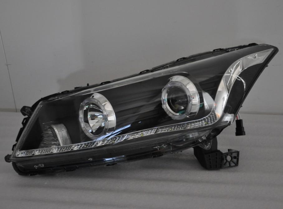 Honda Accord `08 Head Lamp Crystal Projector Black W/Rim