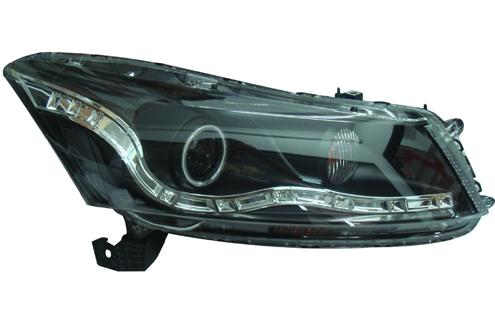 Honda Accord `08 TAO Head Lamp Crystal Projector W/ CCFL + LED ( Audi ..