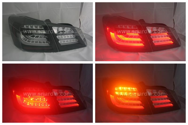 Honda Accord 14- Black Face Light Bar LED Tail Lamp
