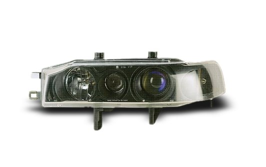 HONDA Accord '90-93 EAGLE EYES CCFL Black Projector Headlamp HL-034-2
