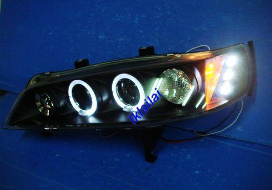 HONDA ACCORD SV4 '94-'97 Crystal Projector LED + Ring Head Lamp Black