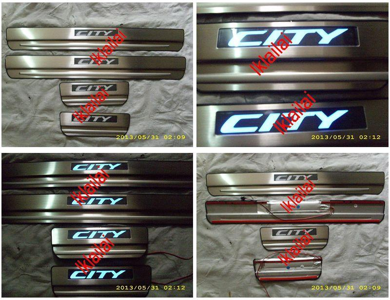 HONDA CITY  '09 Door / Side Sill Plate With LED Light [4pcs/set]