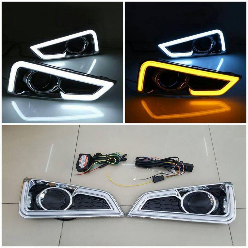 Honda City '14 Fog Lamp Cover with COB LED Daylight + Signal Function
