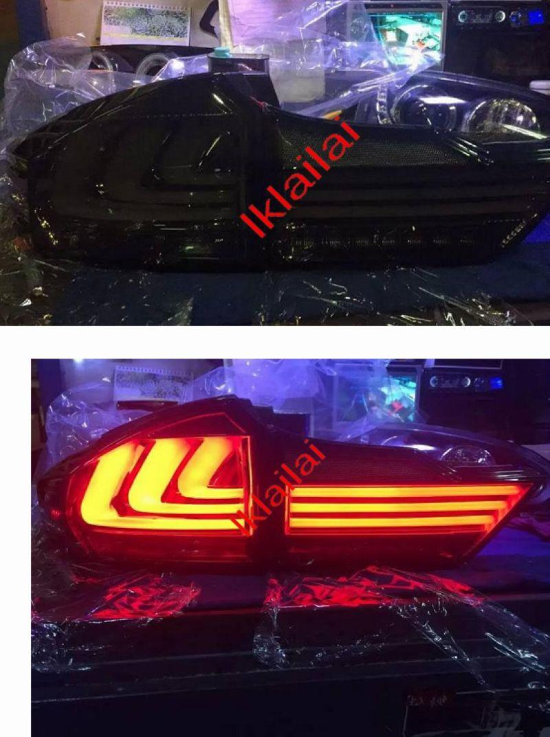Honda City '14 Tri Light Bar LED Tail Lamp [Smoke / Red Lens]