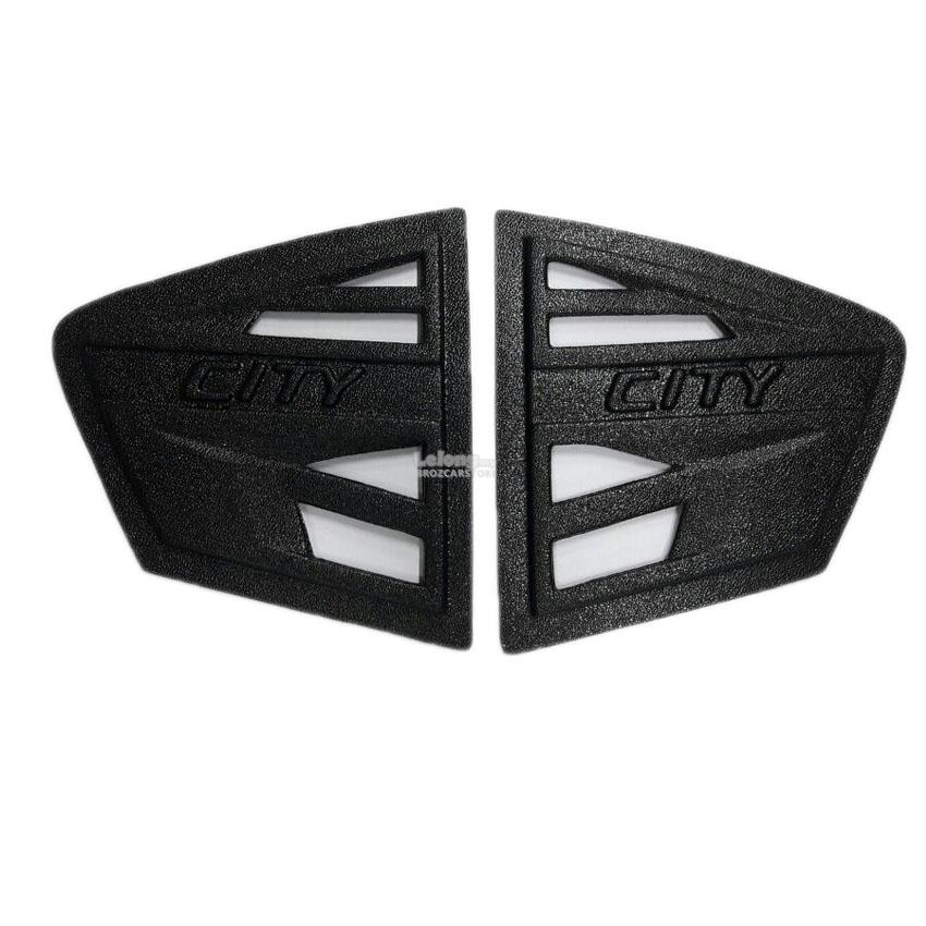 Honda City 2009 Black Rear Side Window Triangle Mirror Cover Protector