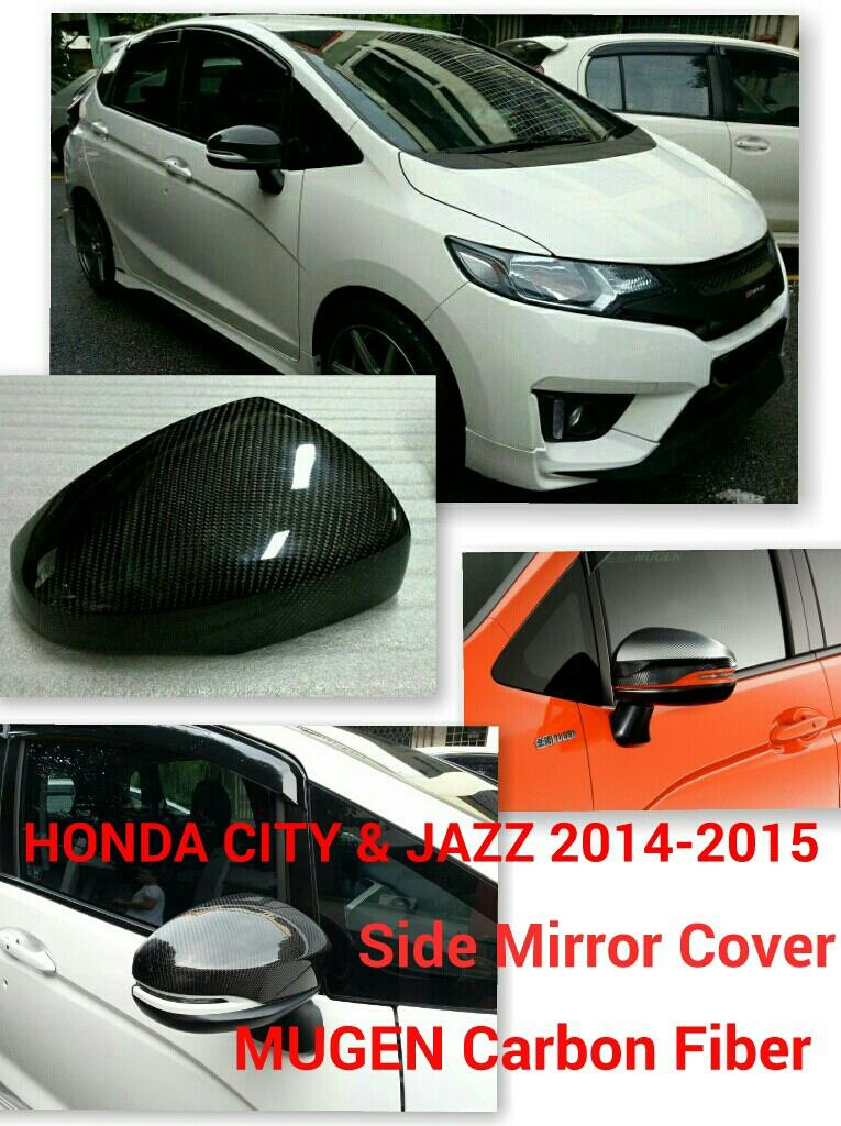 HONDA CITY & JAZZ 2014-2016 Side Mirror Cover MUGEN Carbon Fiber