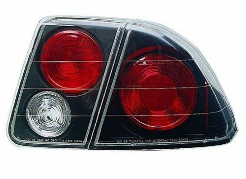 HONDA CIVIC 01-05 4D CRYSTAL TAIL LAMP [Black/Chrome Housing]
