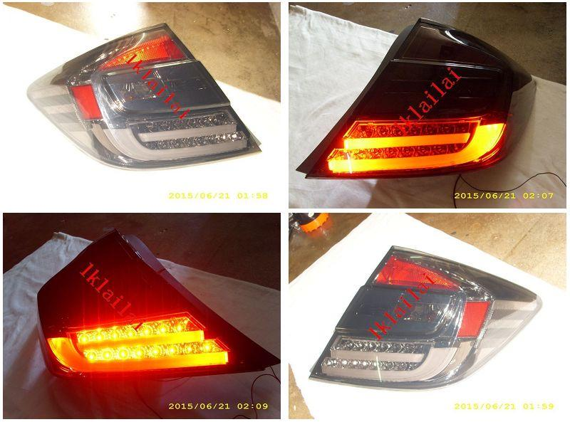 Honda Civic '12-13 LED Light Bar Tail Lamp [Smoke]