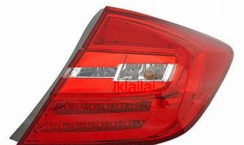 Honda Civic '12 LED Light Bar Tail Lamp [RED-CLEAR]
