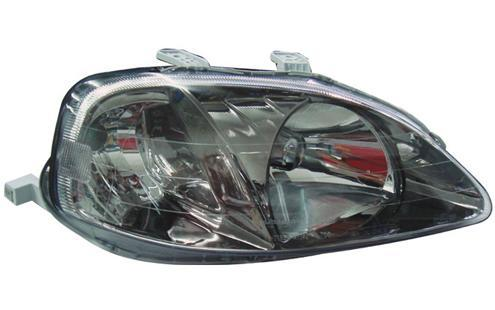Honda Civic `99 S04/EK/S21 Head Lamp Crystal Black Chrome [TYPE R