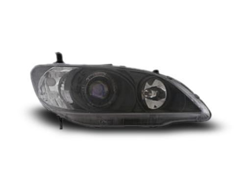 HONDA CIVIC ES '04 - '05 EAGLE EYES CCFL Projector Head Lamp Angel Eye