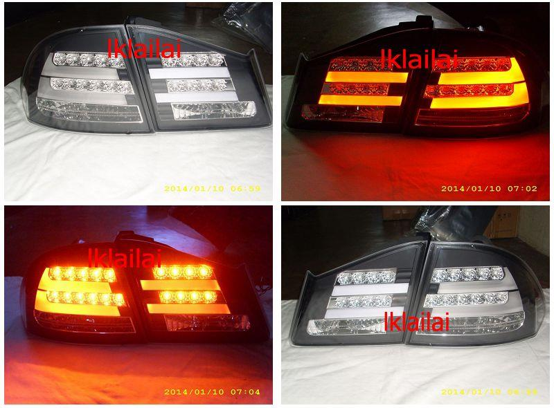 Honda Civic FD '06 LED Light Bar Tail Lamp] [BMW F10 Style] [Black]